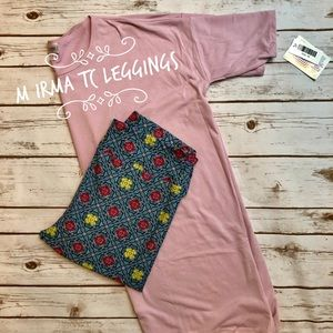 LLR solid pink Irma with TC Leggings